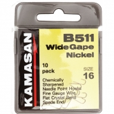 KAMASAN B511 WIDE GAPE NICKEL HOOK