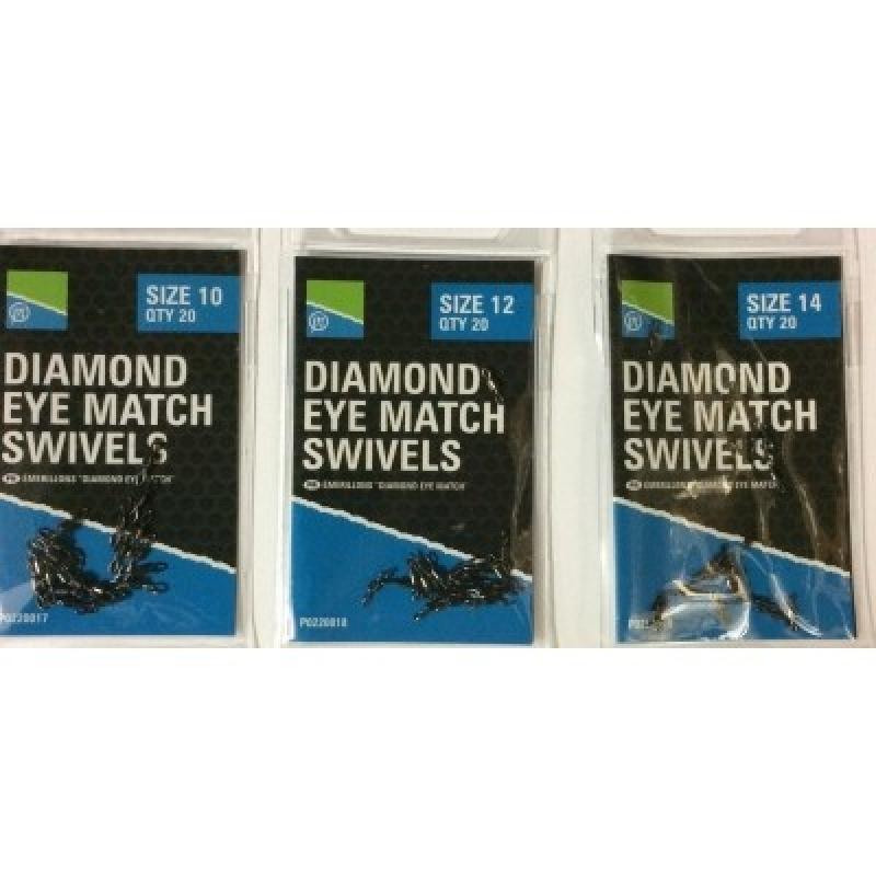 Diamond Eye Match Swivels Size 10